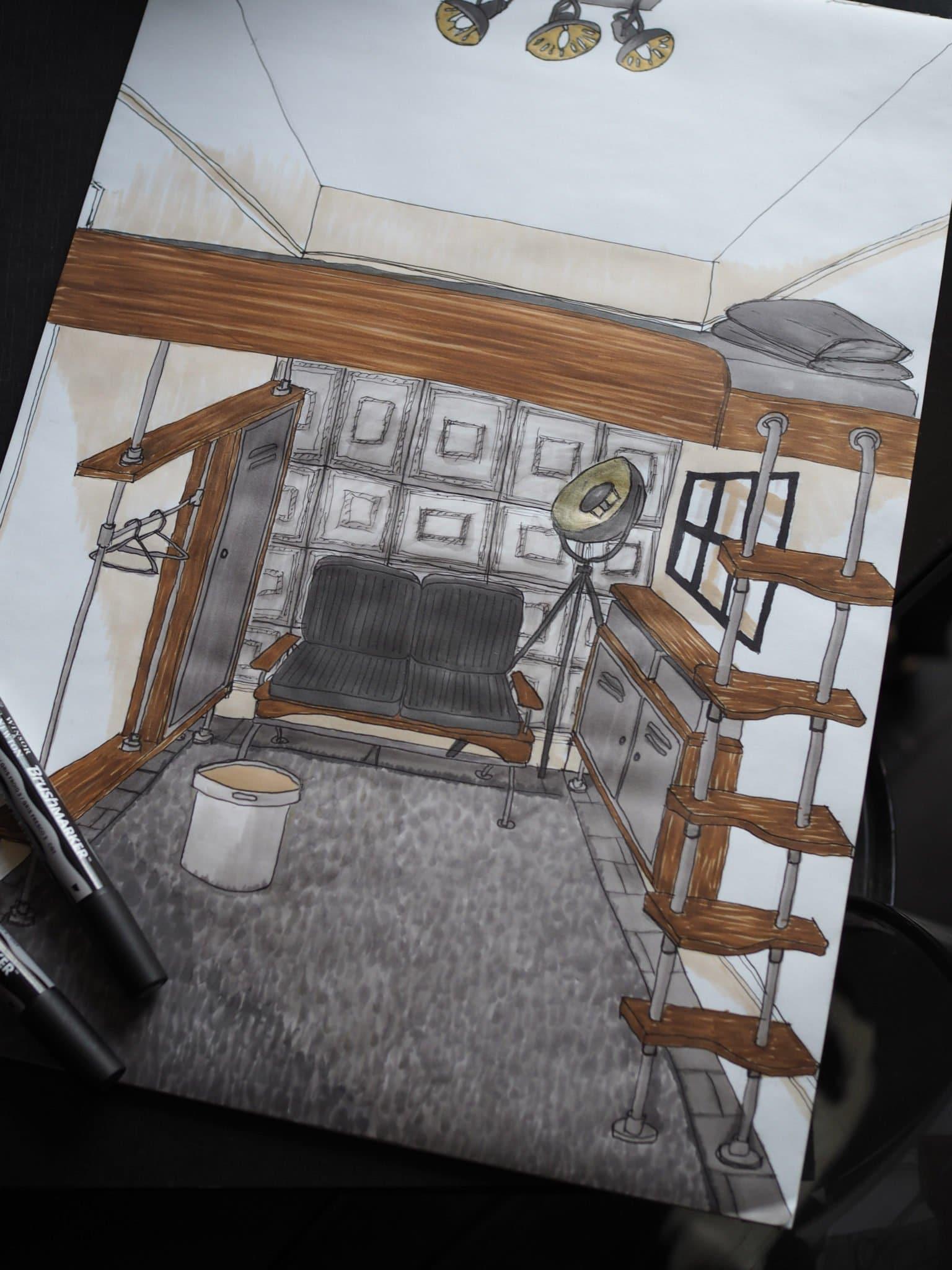 Manhatten Loft Inspired Small Bedroom