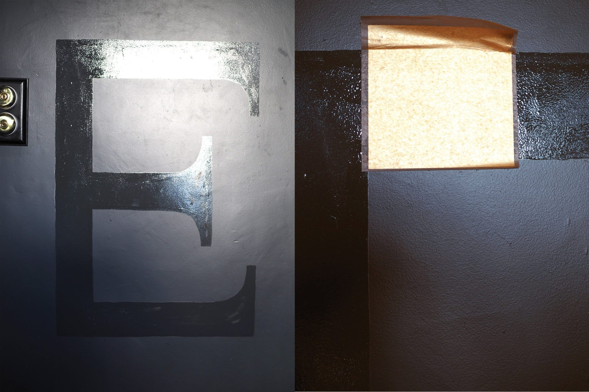 Simple Steps to follow to create your DIY gold leaf wall letters