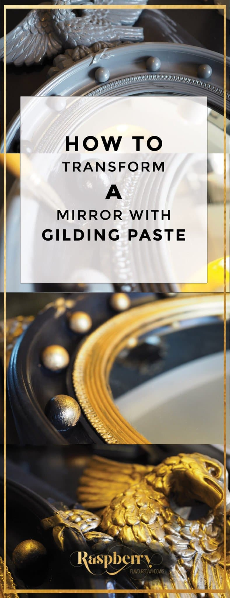 How to Transform a Mirror With Gilding Paste
