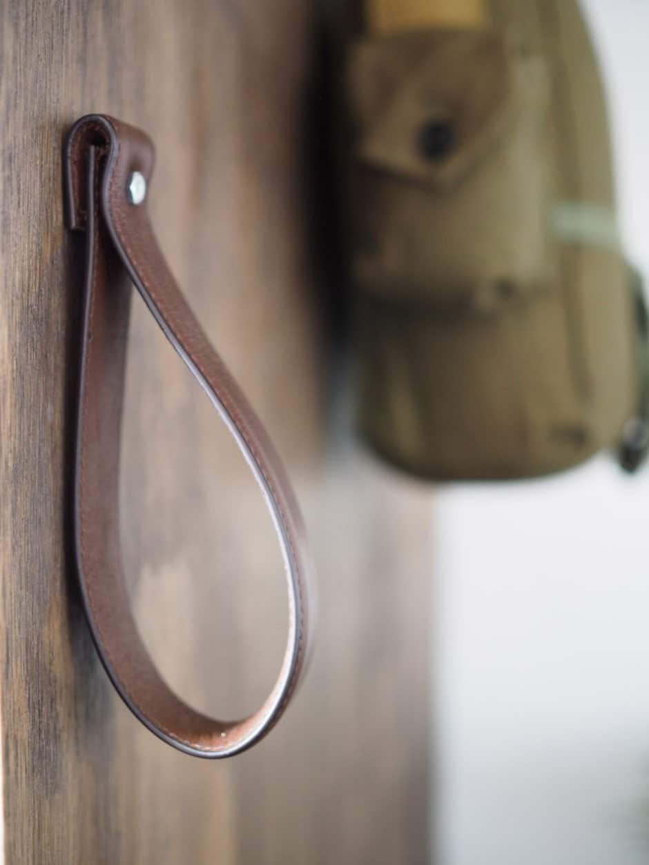 DIY Leather Cabinet Pull