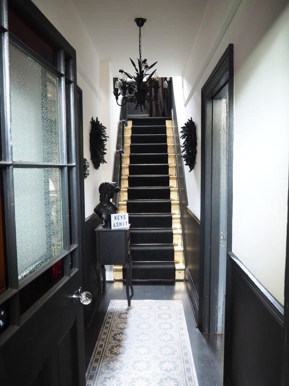 Monochrome Hallway Reveal