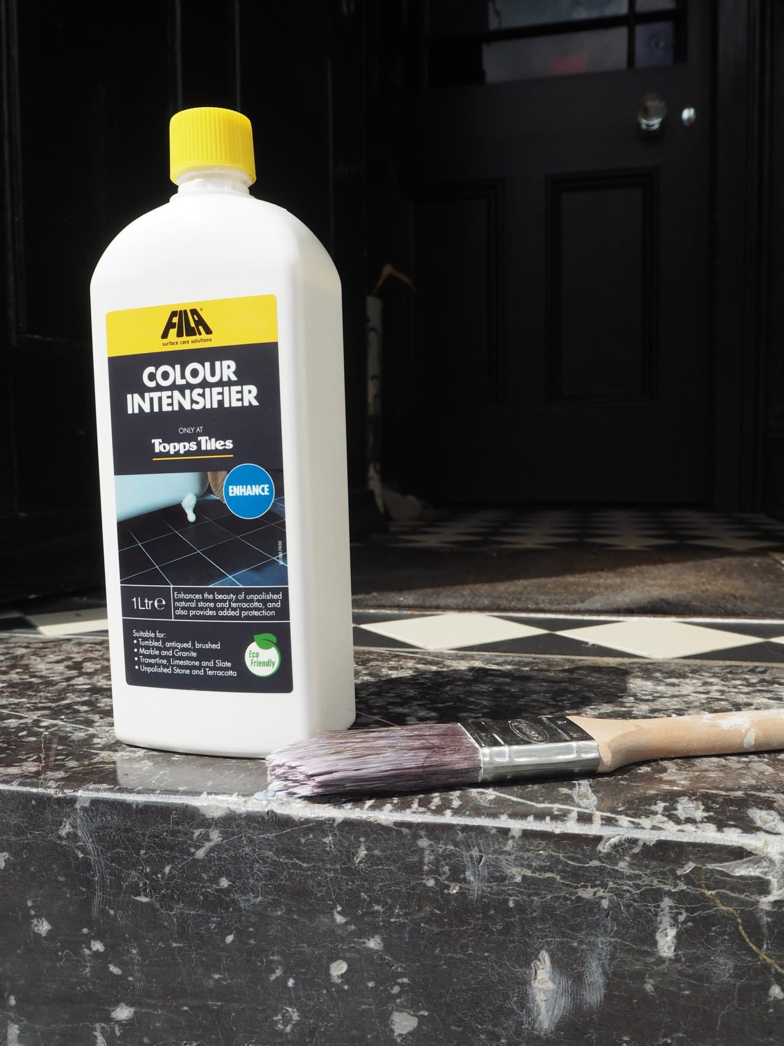 Sealing Marble or Limestone to protect and intensify colour