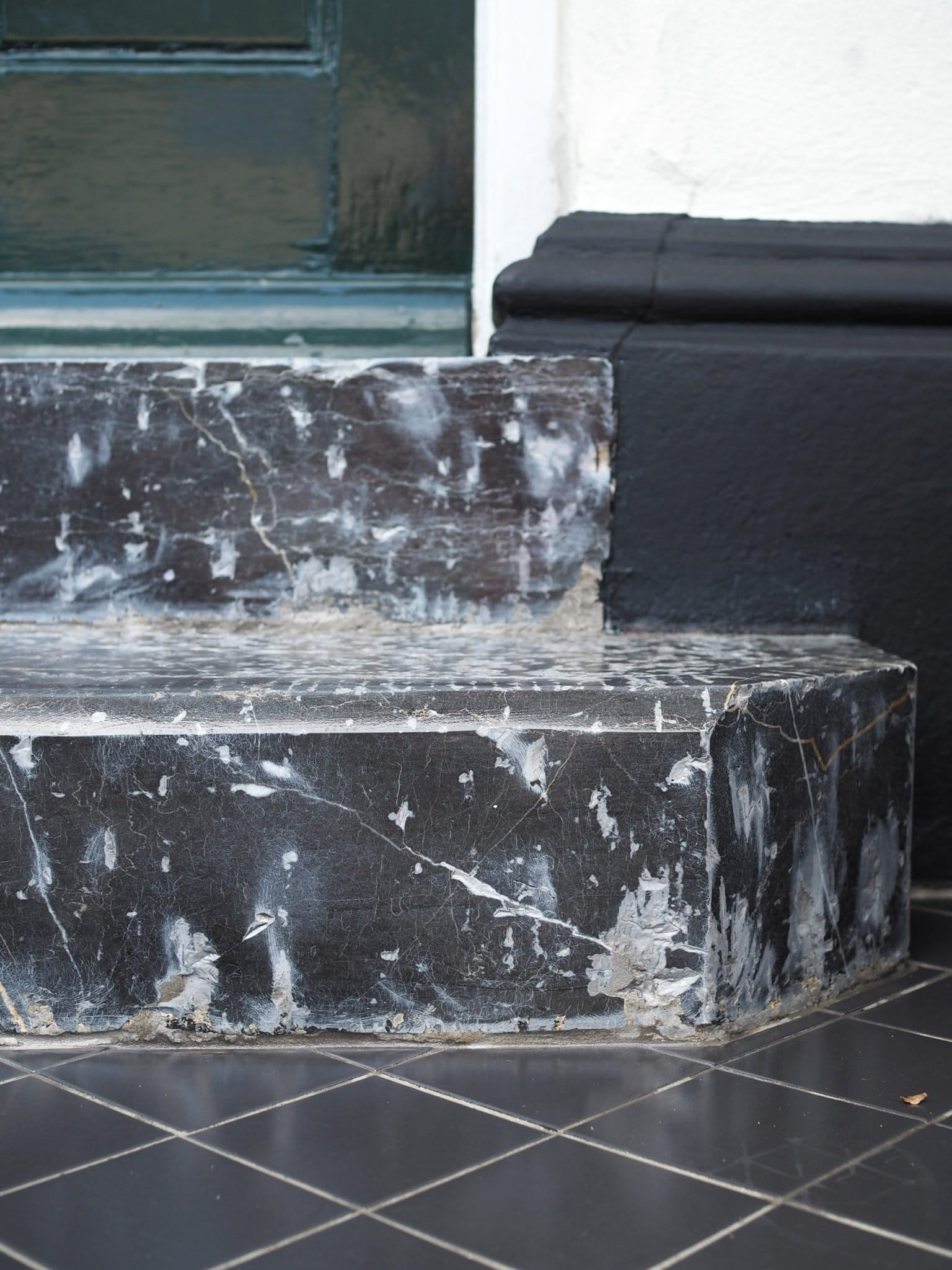 marble and limestone steps after polishing