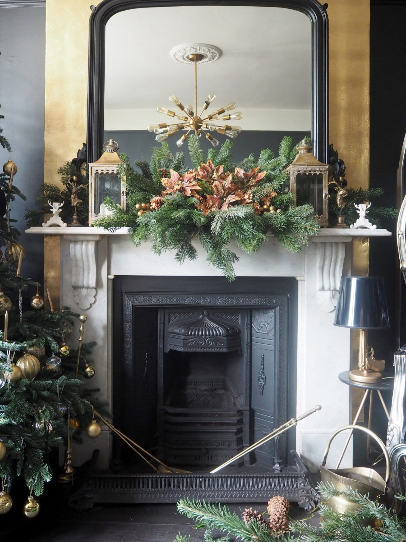 DIY Christmas Fireplace Garland