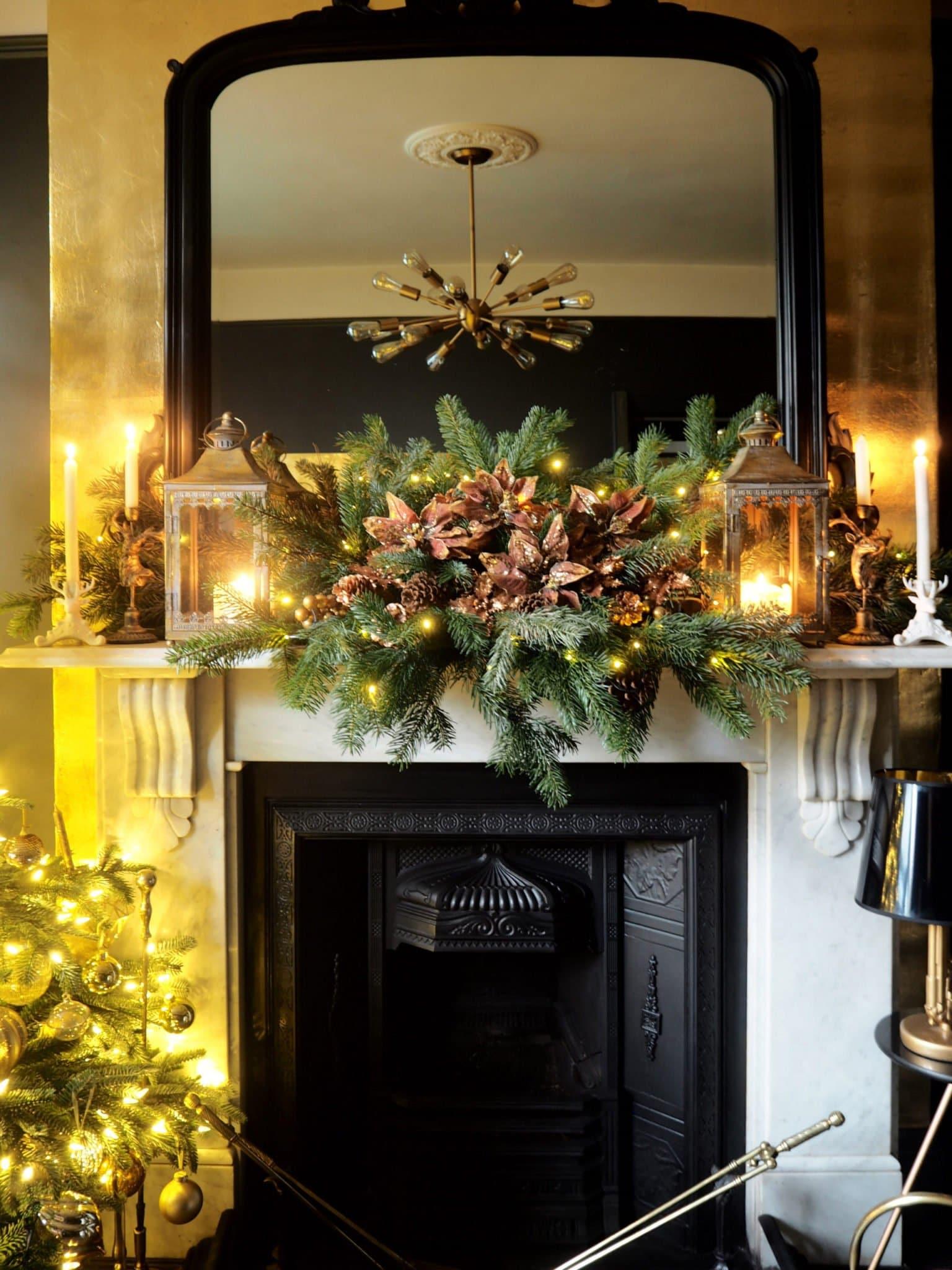 DIY Chrismas Fireplace Garland