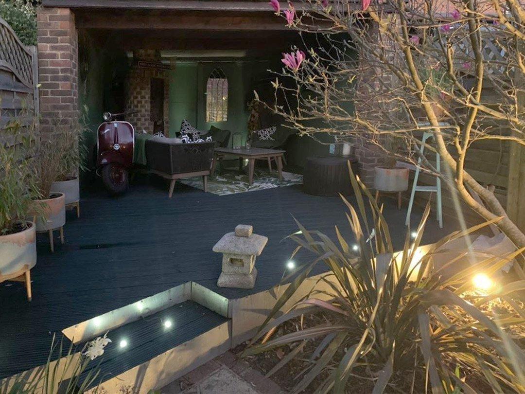 A garden room transformation by raspberry flavoured windows