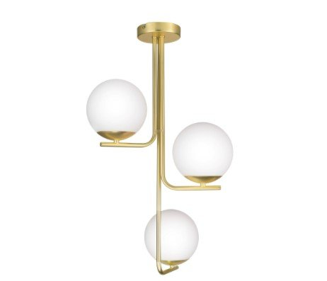 New Baldaz Brushed Brass effect 3 Lamp Pendant ceiling light