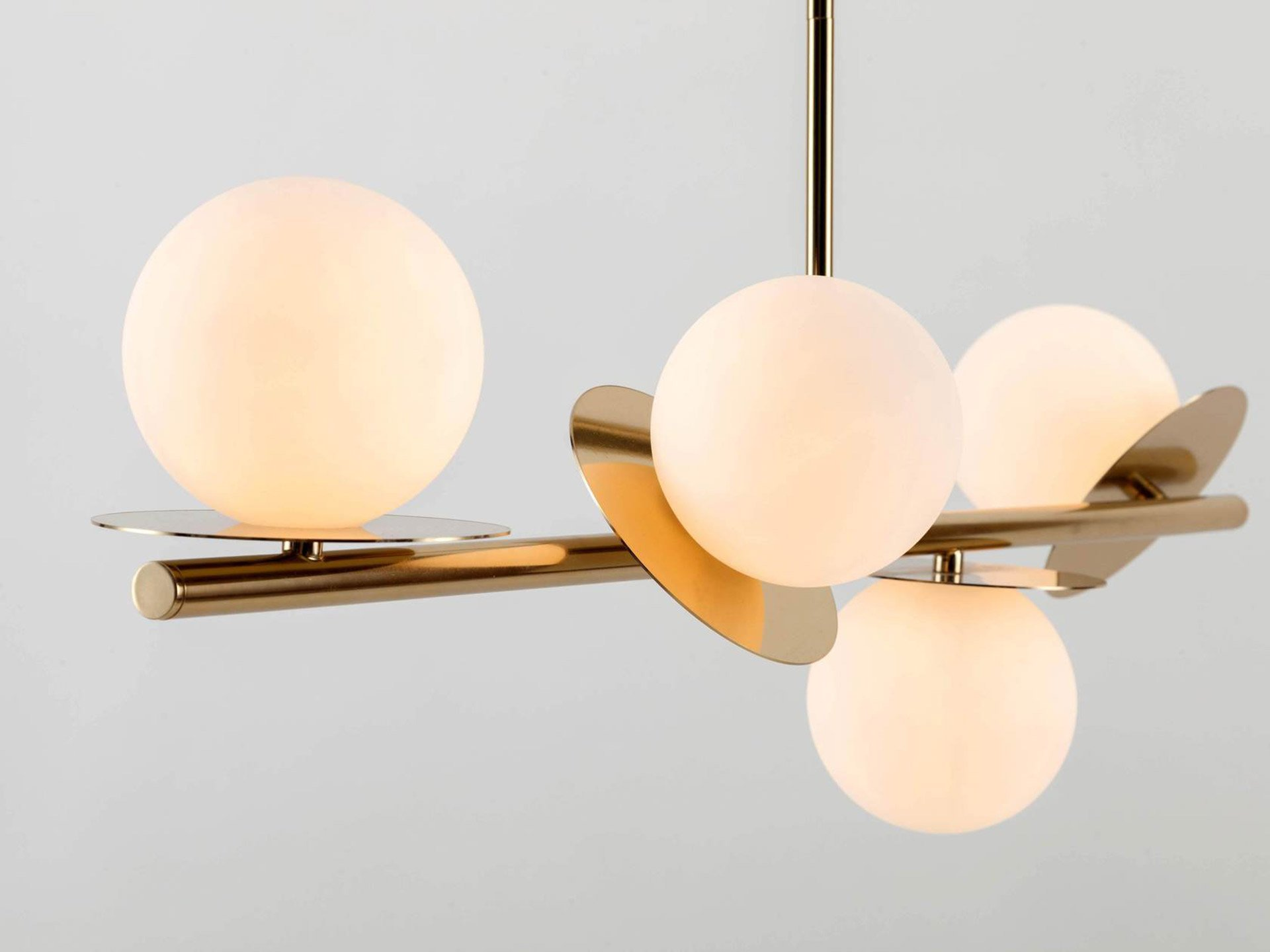 The Brass Opal Disc Ceiling Light from HouseOf.com