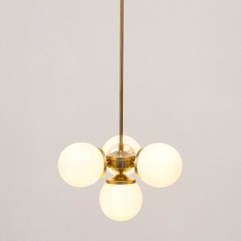 Atlas Opal Pendant Light with solid stem