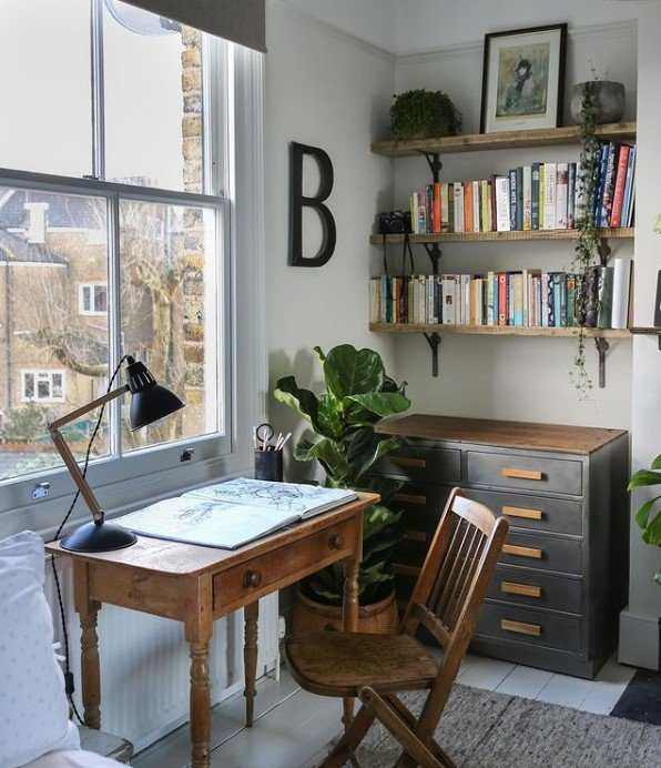 The perfect school space away from school in the home of vintagecuratorinteriors