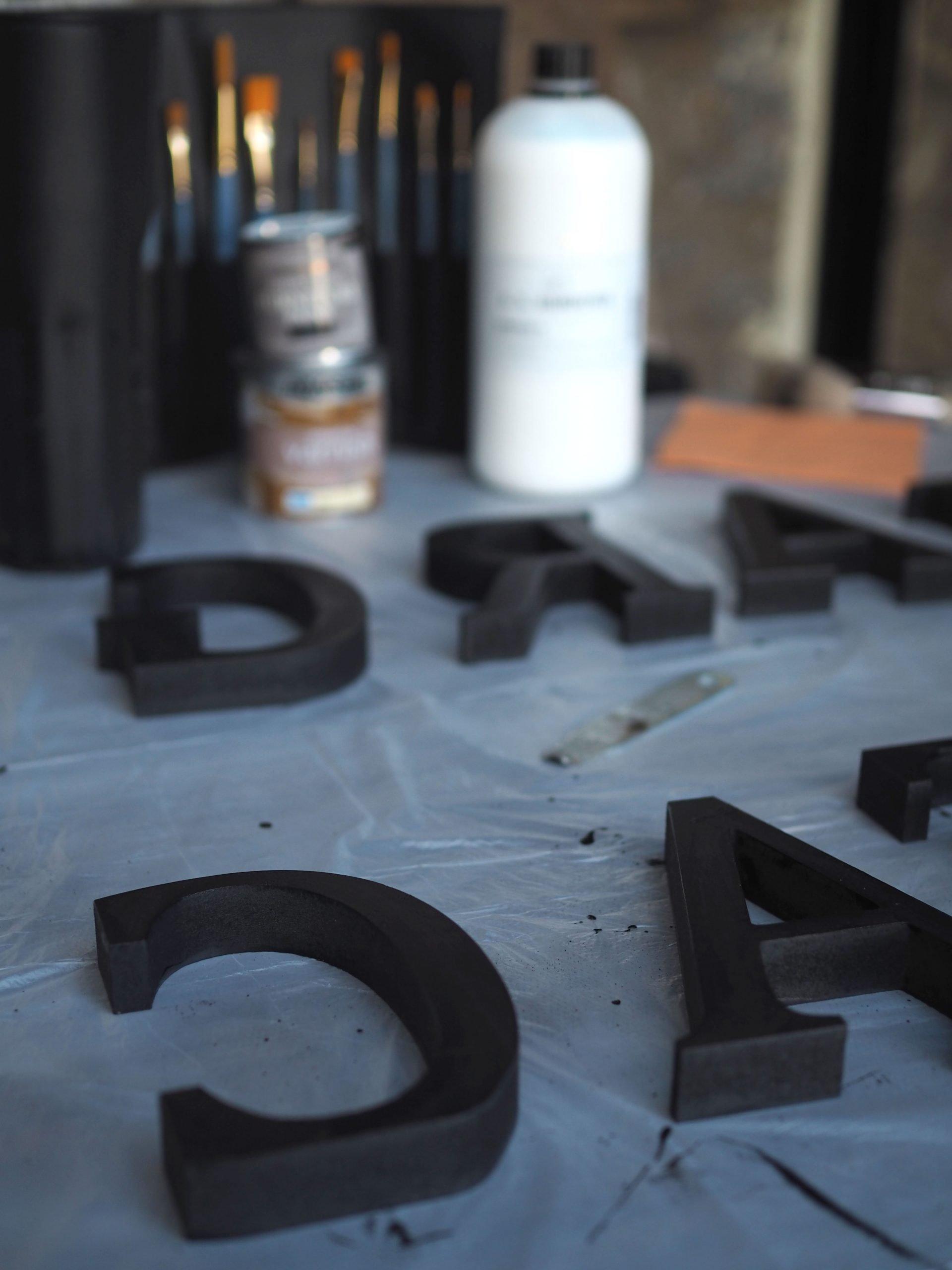 raised wooden letter DIY wall sign art