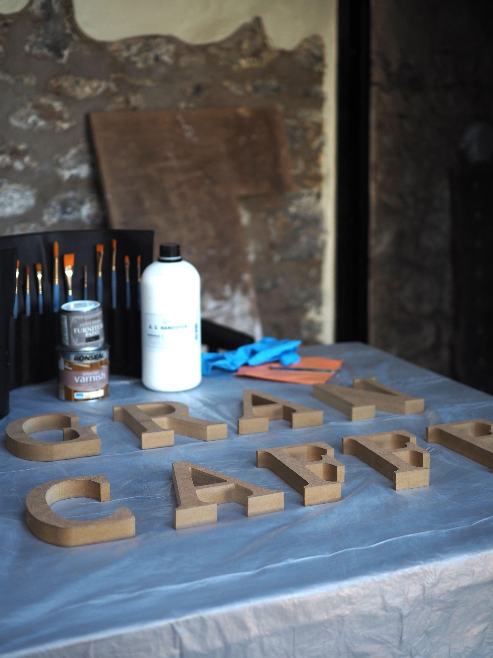 raised wooden letter DIY wall sign art - raspberry flavoured windows