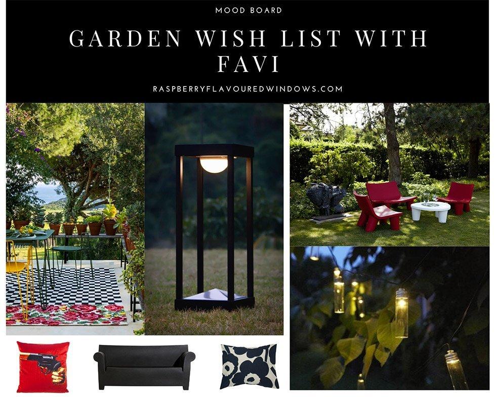 Garden Wish List With Favi