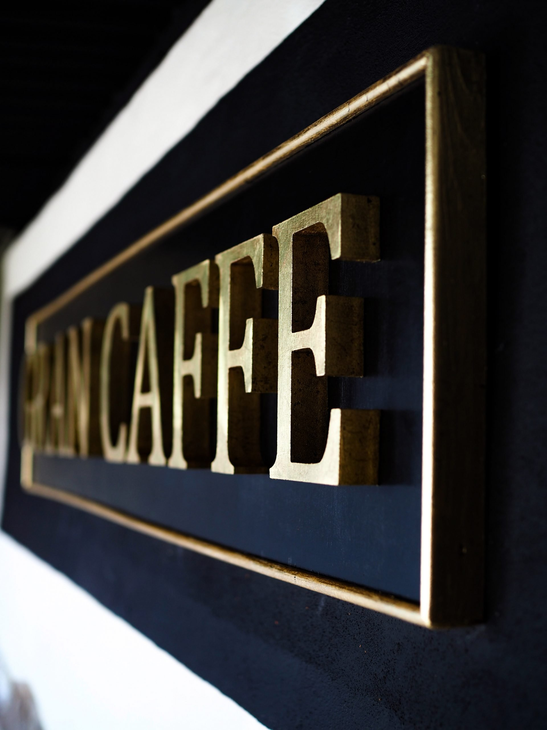 Cafe Wall Sign Art